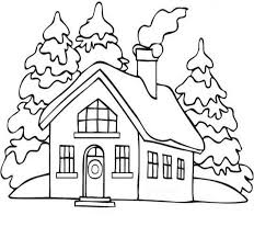 Una Casa Di Montagna Da Colorare Gratis Per Bambini Disegni Da