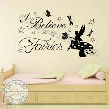 fairy wall stickers i believe in fairies bedroom nursery wall sticker e with erflies