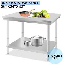 24 X 36 Commercial Stainless Steel Kitchen Work Bench Sit In