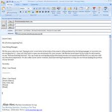 Cover Letter Format For Email Cover Letter Format For Email Cover