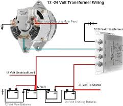 volt dc amp charging transformer alternator and battery wiring diagram for applications 24 volt cranking system and 12 volt charging system
