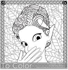 Retro Girl Pixie Fairy Printable Coloring