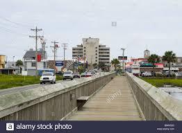the marsh boardwalk along atlantic avenue going into garden city sc usa