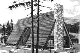 #146-1536  This is the front elevation of A-Frame House Plans LS-H-770