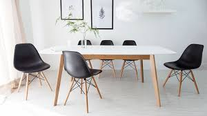 white wood dining chairs. Black Eames Extending Dining Set White Wood Chairs U
