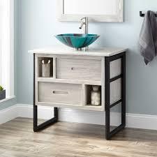 bathroom vessel sink vanity. 30 declan teak vessel sink vanity light gray bathroom with regard to sinks designs 12