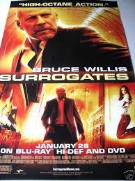 Surrogates Movie Surrogates Bruce Willis Movie Poster Ebay