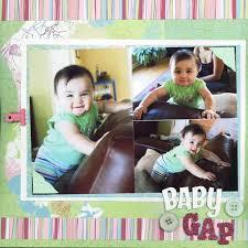 Scrap Booking Page Ideas Baby Gap Scrapbook Album Keepsake Book