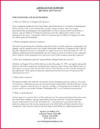 Affidavit Of Support Affidavit Of Support Sample Sop Examples 20