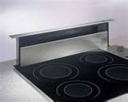 the downdraft hood usually vents through a wall or into the floor joists and then to the outside downdraft vent hoods are found in home kitchens as well as