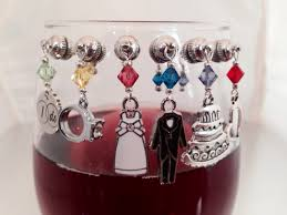 6 wedding magnetic wine charms