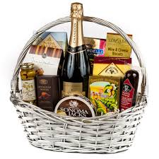 sparkling wine congratulations gift basket wine and chagne gifts by san francisco gift baskets