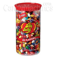 Jelly Bean Vending Machine Magnificent Buy Jelly Belly 48 Assorted Flavor Jelly Beans 48 Lb Clear Can