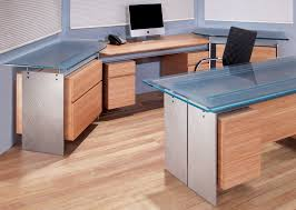 Glass top office furniture Wood Axis Office Suite With Bamboo Drawers Bright Aluminum Leg Plates And Patterned Scratched Glass Tops Stoneline Designs Modern Executive Glass Top Desk Metal And Glass Desk Stoneline
