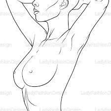 Female Body Line Drawing At Getdrawings Com Free For Personal Use