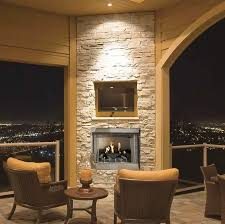 36 outdoor gas fireplace system