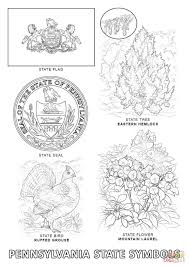 Small Picture Pennsylvania State Symbols coloring page Free Printable Coloring