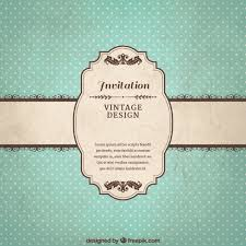Free Invitation Template Download Vintage Invitation Template Vector Free Download