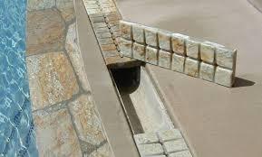 swimming pool deck drains backyard