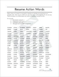 Examples Action Verbs For Resumes Resume Power List Of Mmventures Co