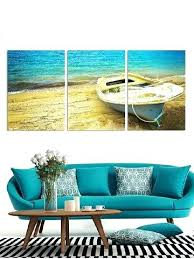 boat wall art new decor seaside printed canvas paintings paddle