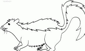 Small Picture Realistic Skunk Coloring Pages Skunk Coloring Flower The Skunk