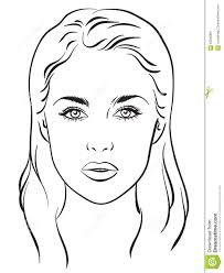 Female Face Chart Make Up Artist Blank Description From