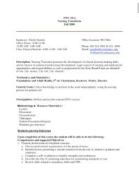 Nice New Grad Nurse Resume Objective Contemporary Entry Level