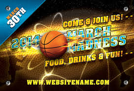March Madness Flyer March Madness Basketball Flyer Set On Behance