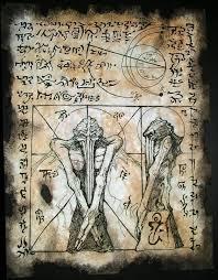 cthulhu larp rlyeh text lovecraft monster necronomicon demon magick occult art ebay