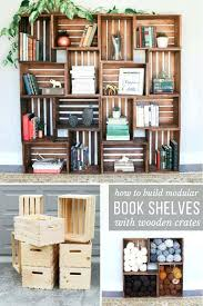wood crate wall storage how to build yarn shelves with crates zip ties wooden crates book