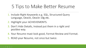 5 tips to make your resume better tips resume