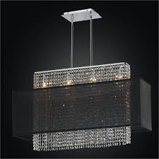 linear crystal chandelier rectangular shade chandelier urban essentials 595em33 19sp 3c
