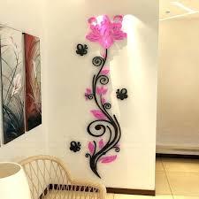 crystal wall decor acrylic crystal wall decor customized rose erfly crystal acrylic three dimensional wall stickers