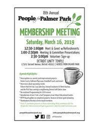 Meet And Greet Meeting Agenda Latest News From People For Palmer Park Detroit Michigan