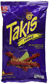 amazon bracel takis fuego hot chili pepper lime tortilla chips 9 9 ounce bag 280g pack of 2