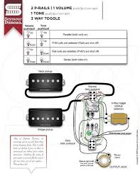 Wiring Diagrams For Split Humbuckers 1 Volume 1 Tone HSS 2 Volume 1 T-One Wiring Diagram