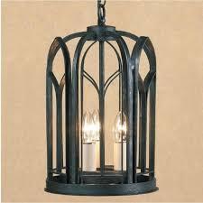 villa black wrought iron gothic hall lantern