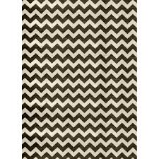 ruggable washable chevron black and white 5 ft x 7 ft stain resistant area