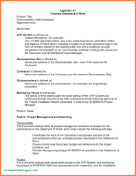 It Statement Of Work Waste Management Report Template Unique Statement Of Work Example