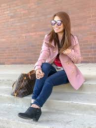 travels and whims 8 1 double ted peacoat obsession fashion women s pink pea coat outfit