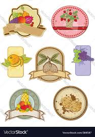 Vintage Food Labels Vintage Food Labels Royalty Free Vector Image Vectorstock