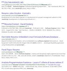 Resumes For Google How To Do A Successful Google Resume Search