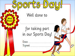 Children Certificate Template Sports Day Certificate Templates For Children