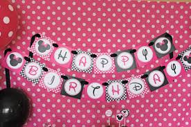 Pink And Black Minnie Mouse Decorations Instant Download Diy Minnie Mouse Pink Printable Birthday
