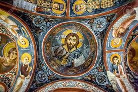 A Beautiful Fresco Showing Christ Pantocrator At The Karanlik.. Stock  Photo, Picture And Royalty Free Image. Image 57680778.