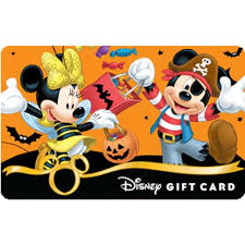 Halloween Gift Cards Disney Collectible Gift Card Halloween Mickey Minnie Fun