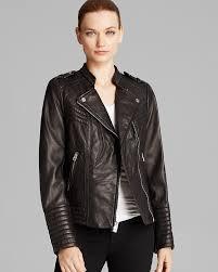 michael michael kors jacket asymmetric moto leather for women