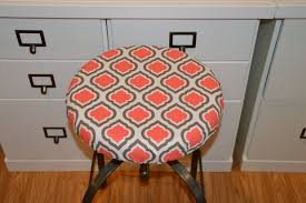 round bar stool cushions. Barstool Cover, Seat Cushion Counterstool Coral Brown White Elastized Kitchen Stool, Round Chair Pad, Cotton, Bar Stool Cushions O