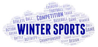 Winter Sports word cloud stock illustration. Illustration of bubble -  138179194